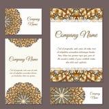 Vectormalplaatjeadreskaartje Geometrische Achtergrond Kaart of uitnodigingsinzameling Islam, Arabisch, Indiër, ottomanemotieven Royalty-vrije Stock Foto