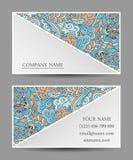 Vectormalplaatjeadreskaartje Kleurrijk krabbelornament Royalty-vrije Stock Afbeelding