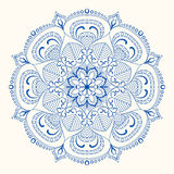 Vectormandala-illustratie Royalty-vrije Stock Fotografie