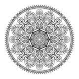 Vectormandala-illustratie Royalty-vrije Stock Afbeeldingen