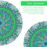 Vectormandaladecor voor uw ontwerp met abstract ornament Oosterse ontwerplay-out Islam, Arabisch, Indiër, ottomane Stock Foto's