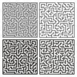 Vectormaze set Labyrint met Ingang en Uitgang Stock Fotografie