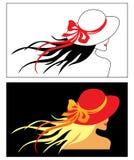 Vectormeisje met hoed Royalty-vrije Stock Afbeelding