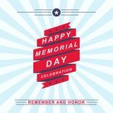 Vectormemorial day -vieringsachtergrond Malplaatje voor Memorial Day -ontwerp Royalty-vrije Stock Foto's
