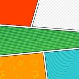 Vectormodel van een typische grappige boekpagina Stock Afbeeldingen