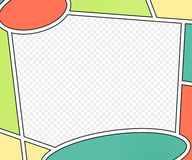 Vectormodel van grappige boekpagina pop-artstijl Stock Afbeelding
