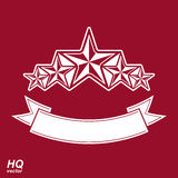 Vectormonarchsymbool Feestelijk grafisch embleem met pentagoon vijf Stock Afbeelding