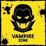 Vectormuurgraffiti Vampierstreek Gele kleur Stock Foto