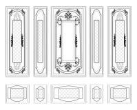 Vectormuurkaders die Decoratief Gesierd Damast wainscoting Stock Fotografie