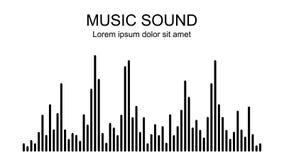 Vectormuziek correcte golven op witte achtergrond Audioequaliserpictogram royalty-vrije illustratie