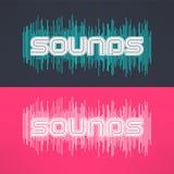 Vectormuziek modieuze achtergrond met equaliser Koel t-shirtontwerp Royalty-vrije Stock Afbeelding