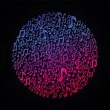 Vectormuziekconcept - muzieknoten Stock Foto's