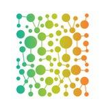 Vectornetwerk Vierkant patroon vector illustratie