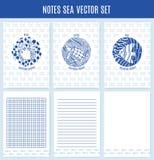 Vectornotaoverzees vector illustratie