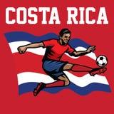 Soccer player of costa rica. Vectorof soccer player of costa rica Royalty Free Stock Photos