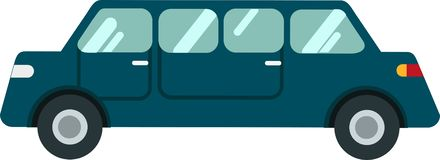 Vectoron da limusina o Blackground branco ilustração stock