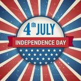 Vectoronafhankelijkheid vierde van Amerikaanse de dagaffiche van Juli Stock Afbeeldingen
