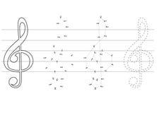 Vectoronderwijsspelen voor kinderen over muziek Royalty-vrije Stock Afbeeldingen