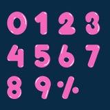 Vectorontwerp nul tot negen van het aantalroze voor zaken Stock Foto