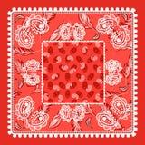 Vectorontwerp van Bandana het rode Paisley Royalty-vrije Stock Afbeelding