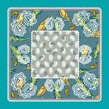 Vectorontwerp van Bandana het tropische Paisley Royalty-vrije Stock Afbeelding