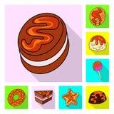 Vectorontwerp van banketbakkerij en culinair embleem Inzameling van banketbakkerij en kleurrijke voorraad vectorillustratie vector illustratie