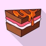 Vectorontwerp van banketbakkerij en culinair embleem Reeks van banketbakkerij en kleurrijke voorraad vectorillustratie vector illustratie