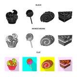 Vectorontwerp van banketbakkerij en culinair pictogram Reeks van banketbakkerij en product vectorpictogram voor voorraad vector illustratie