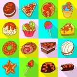 Vectorontwerp van banketbakkerij en culinair symbool Inzameling van banketbakkerij en kleurrijk vectorpictogram voor voorraad royalty-vrije illustratie