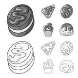 Vectorontwerp van banketbakkerij en culinair symbool Inzameling van banketbakkerij en productvoorraad vectorillustratie vector illustratie