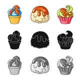 Vectorontwerp van banketbakkerij en culinair teken Inzameling van banketbakkerij en productvoorraad vectorillustratie stock illustratie