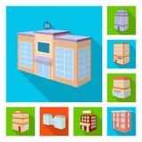 Vectorontwerp van bouw en de bouwembleem Inzameling van bouw en landgoed vectorpictogram voor voorraad vector illustratie
