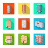 Vectorontwerp van bouw en de bouwpictogram Inzameling van bouw en landgoed vectorpictogram voor voorraad royalty-vrije illustratie