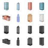 Vectorontwerp van bouw en de bouwsymbool Inzameling van bouw en landgoed vectorpictogram voor voorraad vector illustratie