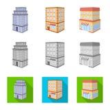 Vectorontwerp van bouw en de bouwsymbool Reeks van bouw en landgoed vectorpictogram voor voorraad vector illustratie