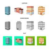 Vectorontwerp van bouw en de bouwteken Inzameling van bouw en landgoed vectorpictogram voor voorraad royalty-vrije illustratie