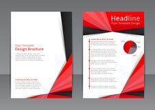 Vectorontwerp van de rode en zwarte vlieger, dekking, brochure, affiche, rapport Royalty-vrije Stock Foto