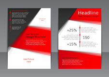 Vectorontwerp van de rode en zwarte vlieger, dekking, brochure, affiche, rapport Royalty-vrije Stock Afbeelding