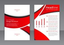 Vectorontwerp van de rode vlieger, dekking, brochure, affiche, rapport met zwarte elementen Stock Afbeeldingen