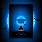 Vectorontwerp van de vlieger voor Halloween Royalty-vrije Stock Foto's