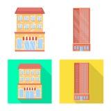 Vectorontwerp van gemeentelijk en centrumembleem Inzameling van gemeentelijk en landgoed vectorpictogram voor voorraad stock illustratie