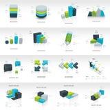 Vectorontwerp van het meetkunde het infographic malplaatje Royalty-vrije Stock Fotografie