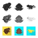Vectorontwerp van het wild en moeraspictogram Inzameling van het wild en reptielvoorraad vectorillustratie vector illustratie