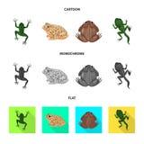Vectorontwerp van het wild en moeraspictogram Reeks van het wild en reptielvoorraad vectorillustratie vector illustratie
