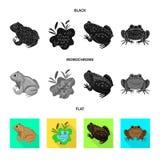 Vectorontwerp van het wild en moerassymbool Inzameling van het wild en reptielvoorraad vectorillustratie vector illustratie