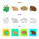 Vectorontwerp van het wild en moerassymbool Reeks van het wild en reptielvoorraad vectorillustratie vector illustratie