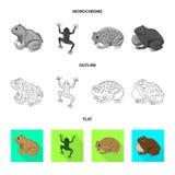 Vectorontwerp van het wild en moerasteken Reeks van het wild en reptielvoorraad vectorillustratie royalty-vrije illustratie