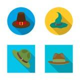 Vectorontwerp van hoed en GLB-pictogram Inzameling van hoed en modelvoorraadsymbool voor Web vector illustratie