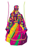Vectorontwerp van kleurrijke Rajasthani-Marionet Stock Fotografie