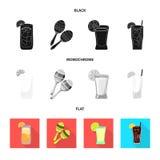 Vectorontwerp van koffie en Latijns symbool Inzameling van koffie en nationaal voorraadsymbool voor Web stock illustratie